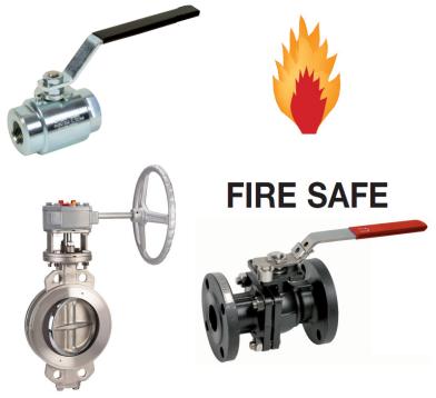 Fire Safe afsluiters