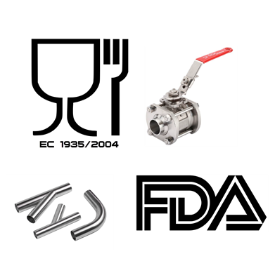 Food valves and fittings