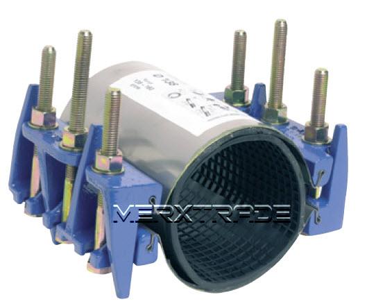 Reparatie koppeling 2 delig RVS + staal