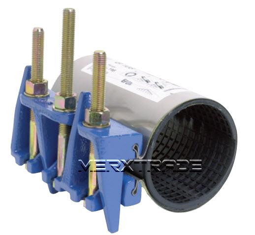 Reparatie koppeling 1 delig RVS + staal