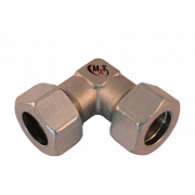 Elbow cutting ring fitting steel zinc S series